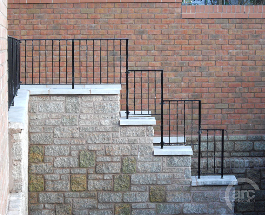Railing on a Stepped Wall