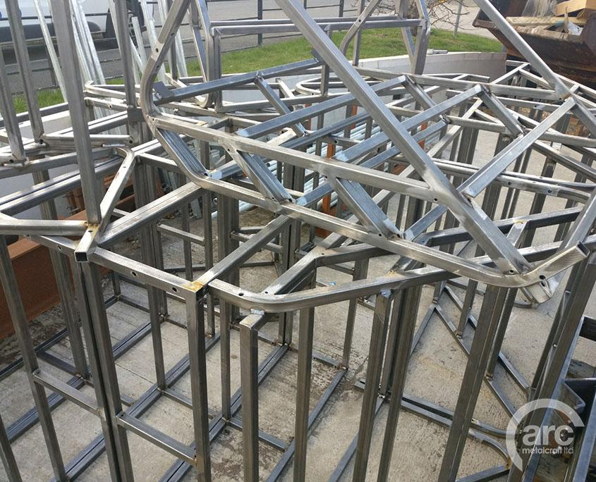Welded step frames
