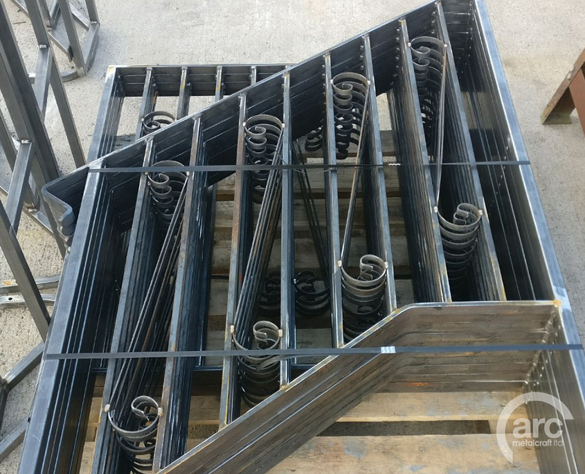 Railing stair panels